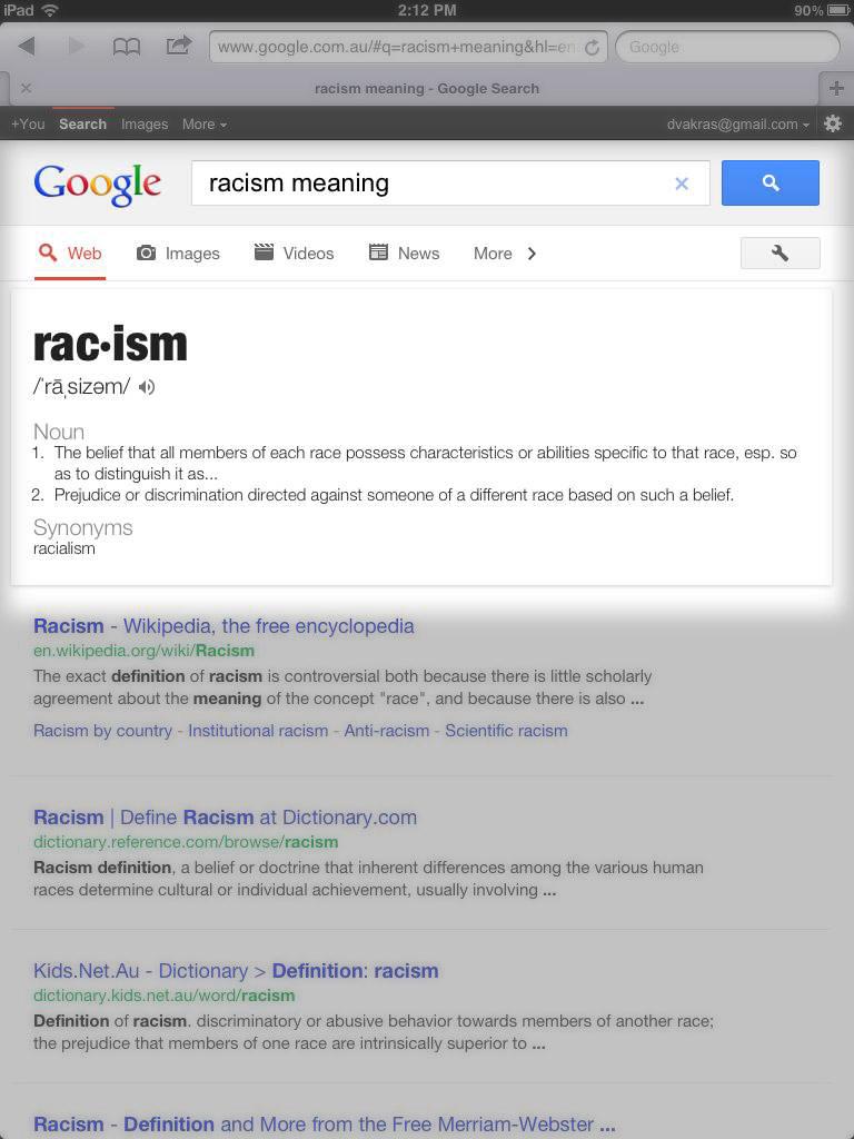 defining racism essay